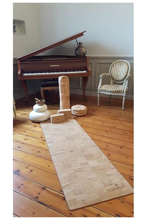 Tapis Yoga de Luxe Khéor Paris en liège