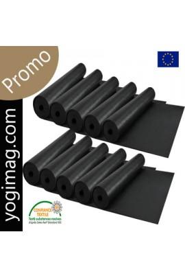 Tapis de yoga noir professionnel antidérapant et lavable