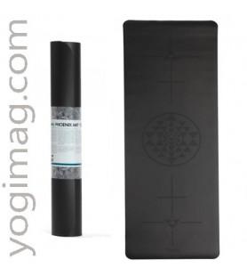 Tapis de yoga avec lignes de positionnement