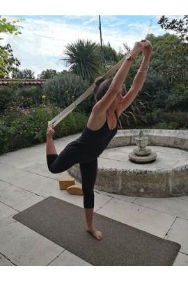 Tapis de yoga en liège et caoutchouc