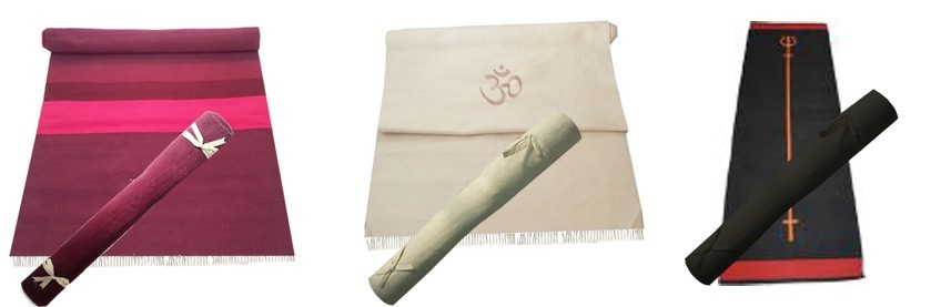 Lot Tapis de Yoga Coton Nature Bio