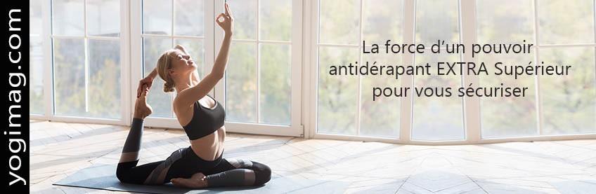 Tapis de yoga en latex et caoutchouc
