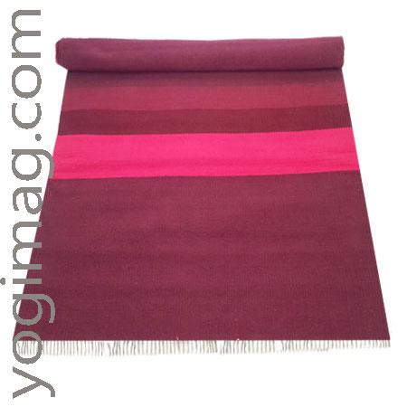 tapis de yoga en coton naturel textile - yogima
