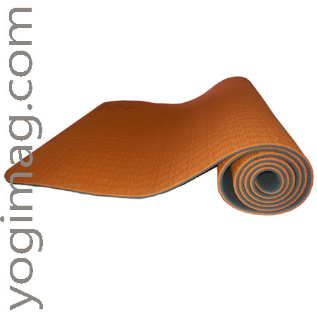 tapis de yoga orange - yogimag
