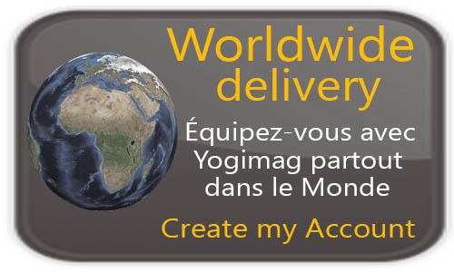 Découvrez notresolution de livraison internationale et mondiale  pour votre matériel et tapis de yoga avec Yogimag